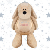 Pesonalised Embroidered Mumbles Soft Toy Dog