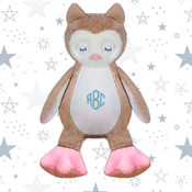 Monogram Embroidered Soft Toy Owl