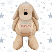 Personalise Embroidered Soft Toy Dog
