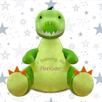 Personalised Embroidered Soft Toy Dinosaur