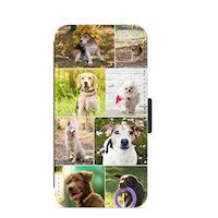 Photo Collage Personalised Custom Faux Leather iPhone Wallet  Thumbnail